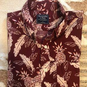 Men's short sleeve floral Abercrombie button up